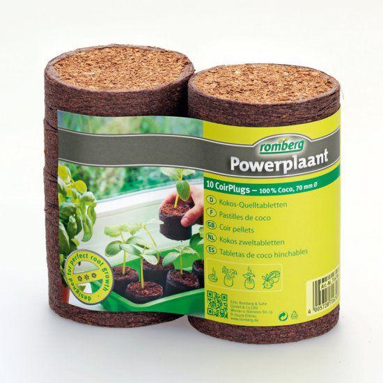 Romberg Powerplaant Kokos-Quelltabs, 10 Stück, 70mm Ø