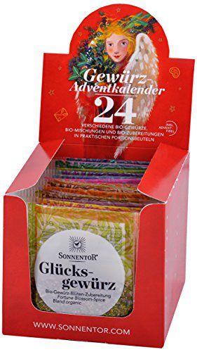 Gewürz Adventkalender 24 Portionsbeutel bio 116 g Packung
