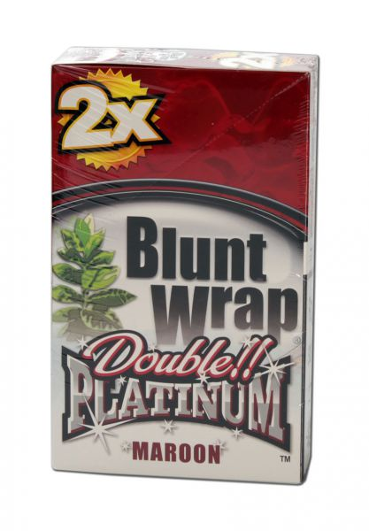 'Blunt Wraps' Platinum Double 'MAROON'