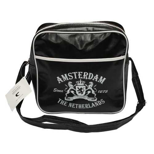AMSTERDAM SMALL RETRO BAG BLACK
