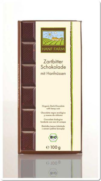 Bio Zartbitterschokolade mit Hanfnüssen
