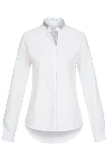 Damen Bluse Langarm mit Logo